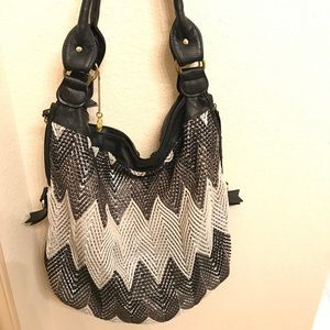 Big Buddha Chevron Sequins Bag